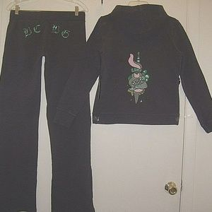 Beautiful beaded sequins embroidered Sweatsuit